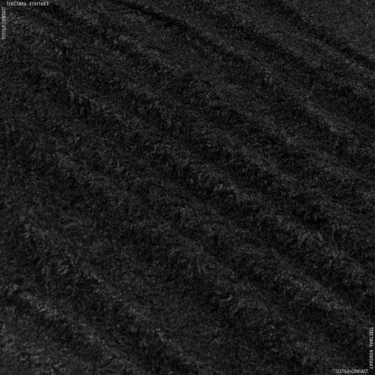 Тканини для м'яких іграшок - Хутро букле чорний