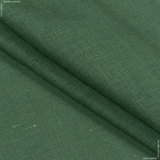 Тканини для штанів - Льон світло-зелений