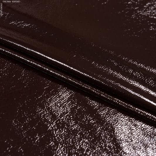 Тканини для верхнього одягу - Штучна шкіра лакова баклажановий