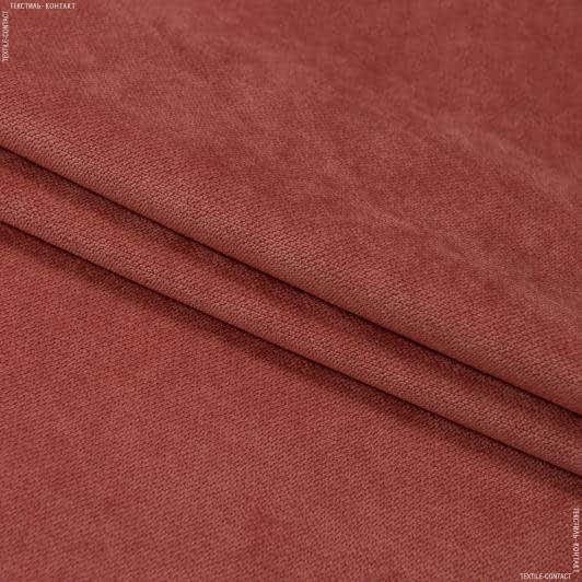 Ткани для мебели - Велюр будапешт/budapest кирпичный