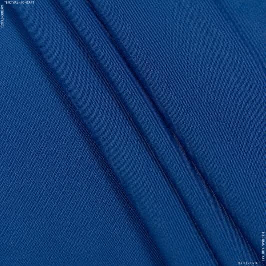 Тканини для суконь - Трикотаж масло синій