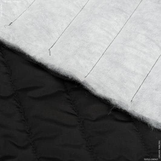 Тканини для верхнього одягу - Плащова  фортуна стьобана з синтепоном чорний