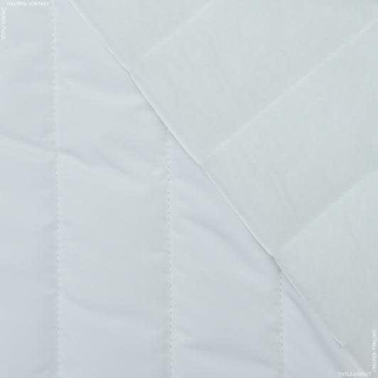 Ткани для верхней одежды - Плащевая фортуна стеганая белый
