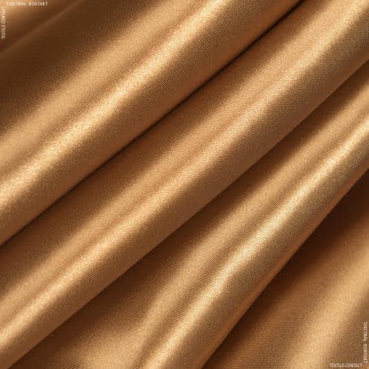 Ткани для костюмов - Атлас плотный коричневый