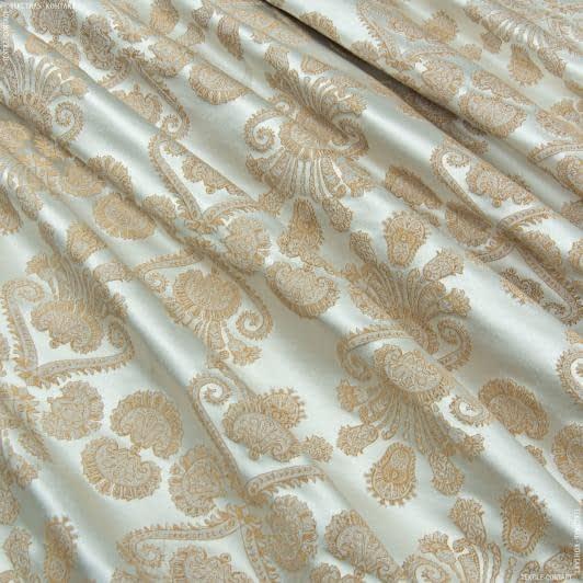 Ткани портьерные ткани - Порт Нури вензель молочный