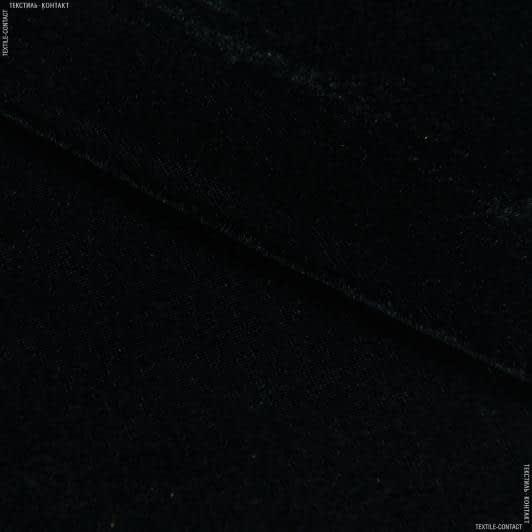 Тканини для суконь - Велюр стрейч чорний