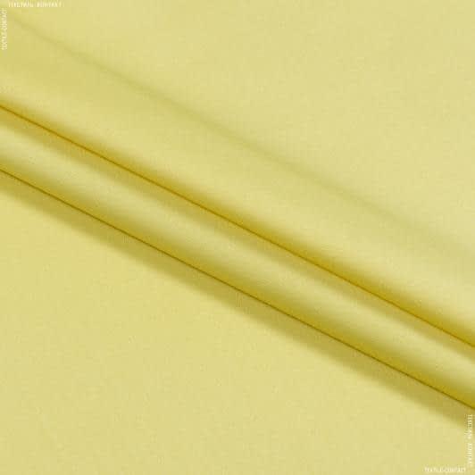 Ткани для брюк - Коттон-сатин лайт стрейч светло-желтый