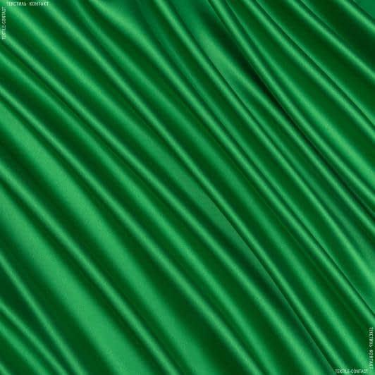 Ткани для белья - Атлас шелк стрейч зеленый