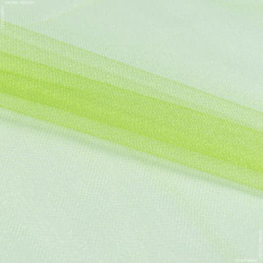 Ткани для блузок - Фатин блестящий темно-салатовый