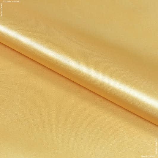 Тканини для костюмів - Атлас щільний т/кремовий