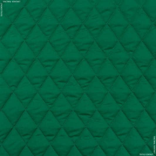 Тканини для верхнього одягу - Плащова фортуна стьобана з синтепоном зелений
