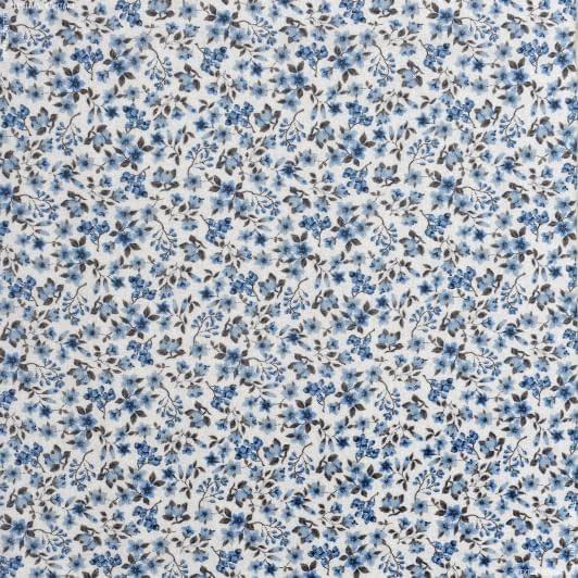 Ткани для детской одежды - Экокоттон синий эшли