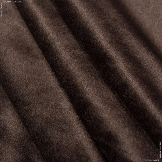 Ткани для мягких игрушек - Велюр темно-коричневый