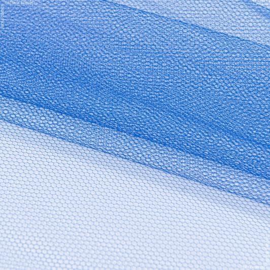 Ткани для блузок - Фатин жесткий темно-васильковый
