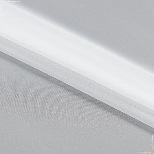 Тканини horeca - Тюль вуаль з вогнезахисним просоченням / білий з обважнювачем