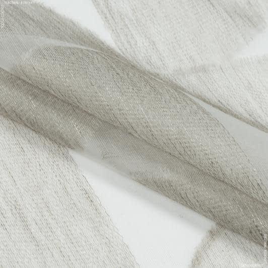 Тканини гардинні тканини - Тюль з обважнювачем мерідіана пісок