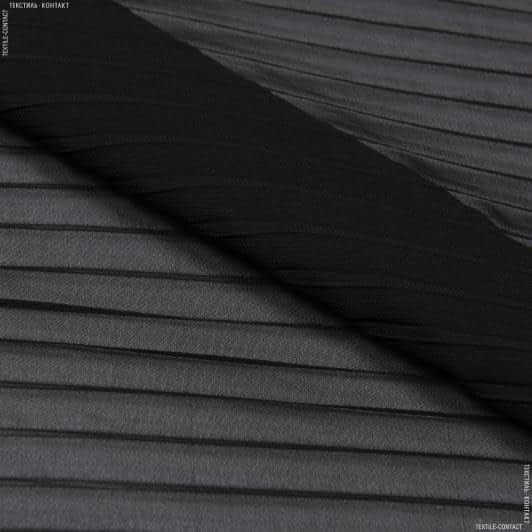 Ткани для платьев - Шифон гофре черный