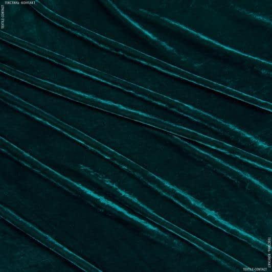 Тканини для дитячого одягу - Оксамит смарагдовий