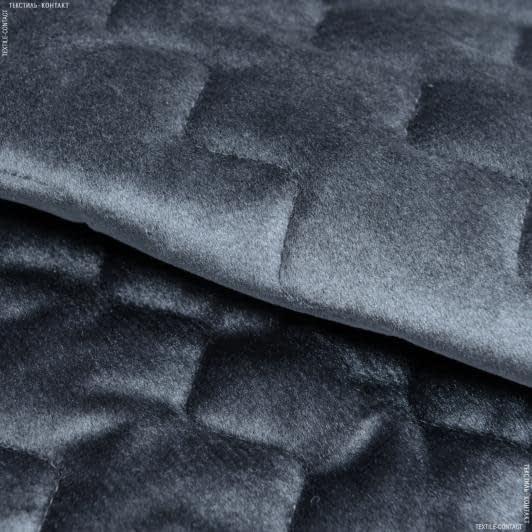 Ткани для покрывал - Декоративная стежка велюр / серый