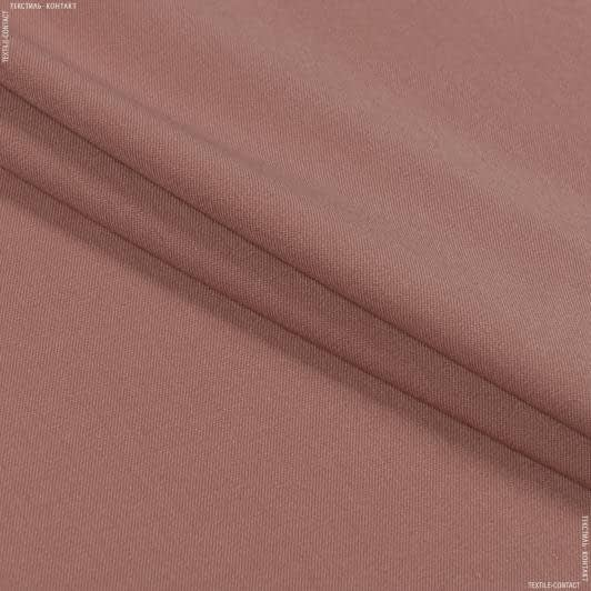 Тканини для штанів - Костюмна полівіскоза стрейч рожево-фрезовий