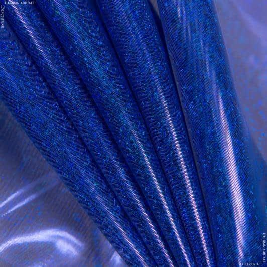 Тканини для блузок - Парча голограма електрик