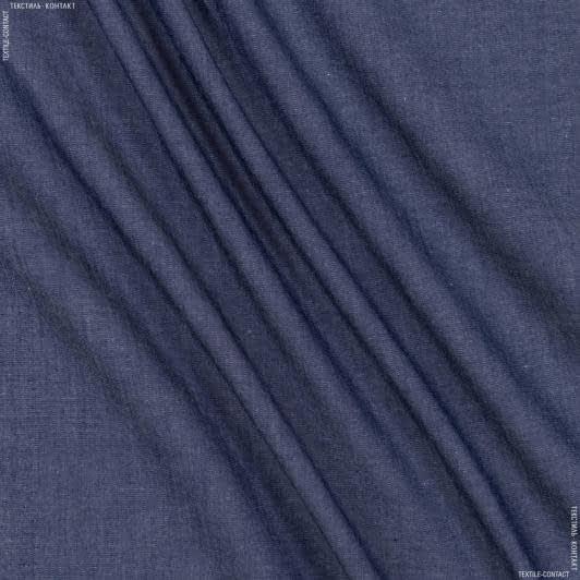 Ткани для платков и бандан - Сорочечная canclini лайт темно-синий
