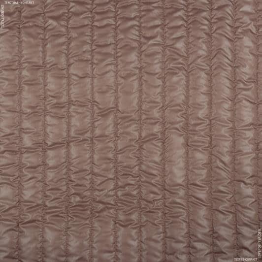 Ткани для спортивной одежды - Плащевая руби лаке стеганая какао