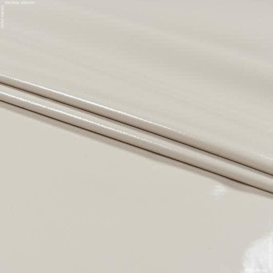Ткани для верхней одежды - Плащевая лаке кремовый