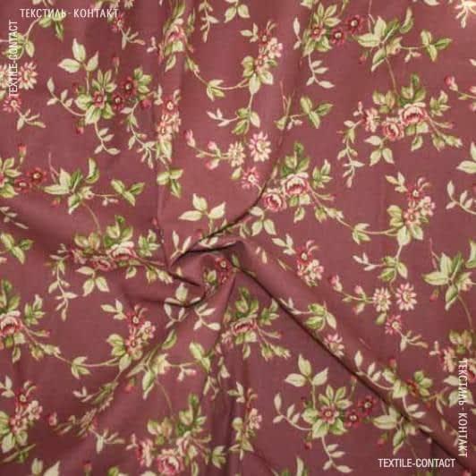 Ткани хлопок смесовой - Декоративная ткань  ЖАКЛИН  бордо
