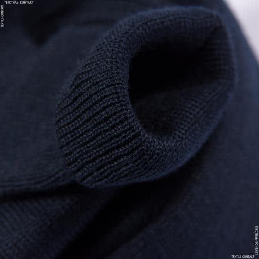 Ткани ластичные - Ластик- манжет 1х1 8см х 2 темно-синий