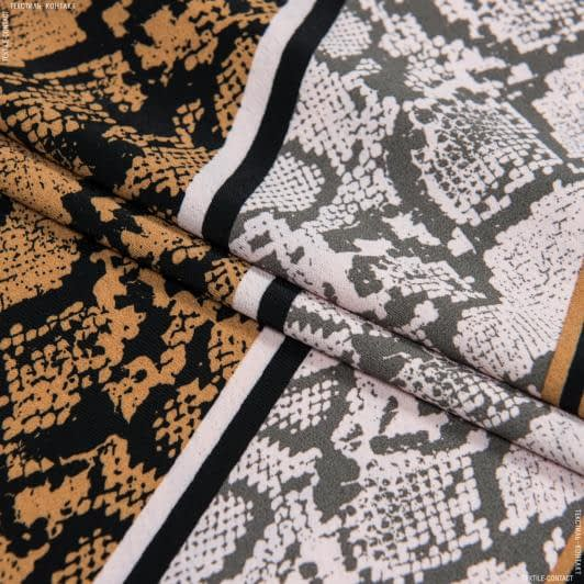 Тканини для суконь - Платтяний креп morrocaine принт
