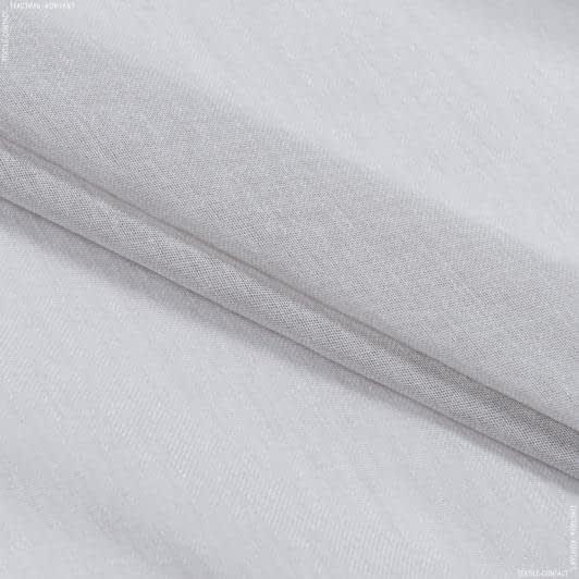 Ткани гардинные ткани - Тюль  кисея с утяжелителем мелодия /св.серый