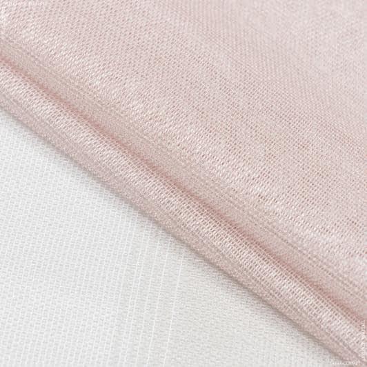 Тканини для тюлі - Тюль кармен купон смуга екрю, пудра