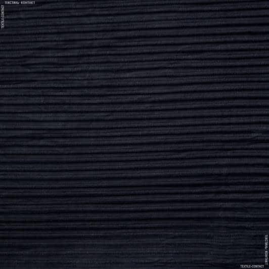 Ткани для платков и бандан - Шифон гофре темно-синий