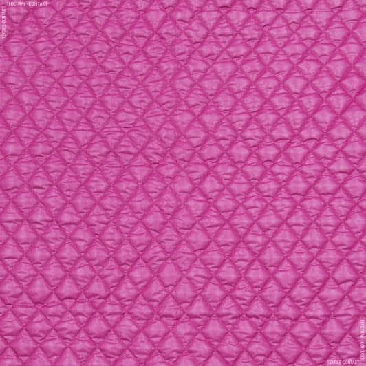 Ткани для спортивной одежды - Плащевая руби лаке стеганая малиновый