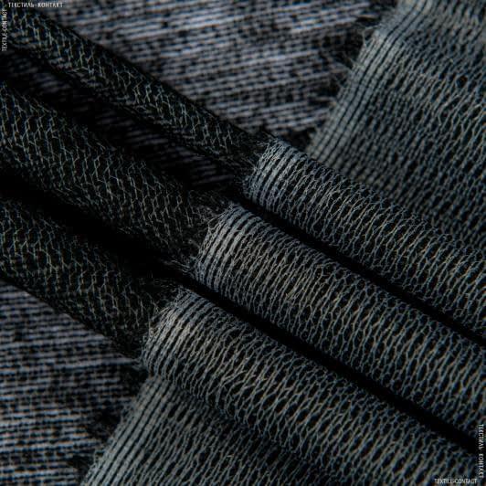 Тканини дублірин, флізелін - Дублірин трик. чорний 67г/м