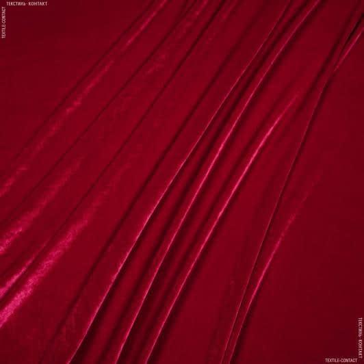 Тканини для верхнього одягу - Оксамит стрейч червоний