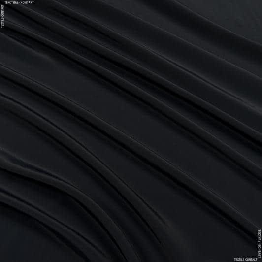 Ткани для платков и бандан - Креп кошибо темно-синий