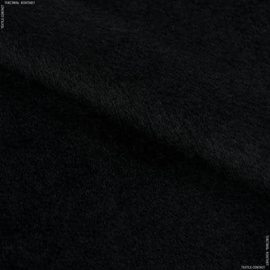 Ткани для верхней одежды - Пальтовая альпака ворсовая черный