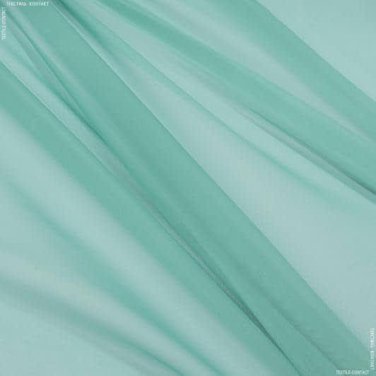 Ткани гардинные ткани - Тюль   вуаль  зеленая бирюза