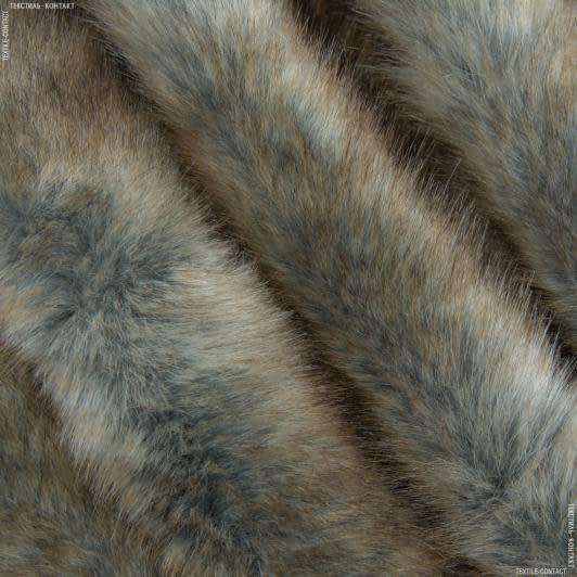 Ткани для верхней одежды - Мех шубный опоссум темный