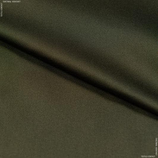 Ткани для платьев - Шелк искусственный стрейч темный хаки