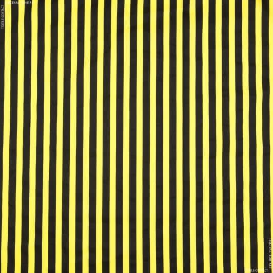 Ткани для брюк - Коттон стрейч полоска черно-желтый