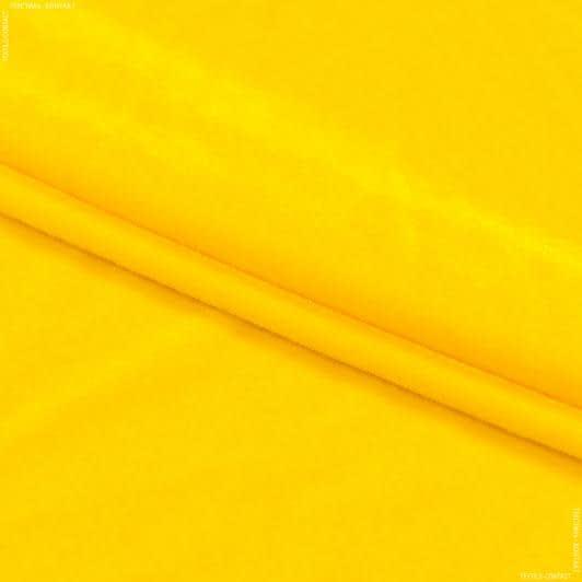 Ткани для верхней одежды - Бархат стрейч  желтый