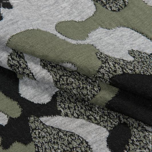 Тканини для верхнього одягу - Трикотаж фукро принт