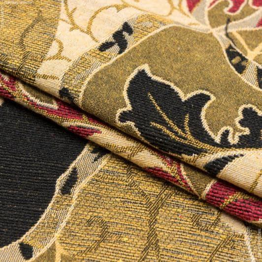 Ткани для декоративных подушек - Гобелен морис беж/ бордо