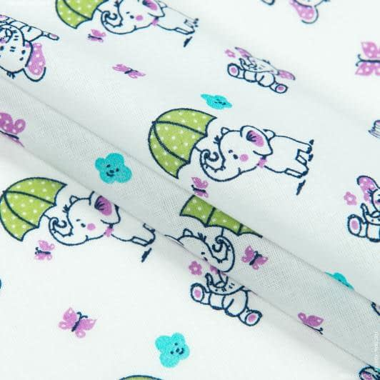 Тканини для дитячого одягу - Ситець 67-ткч слоненята