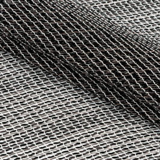 Тканини для рукоділля - Тюль сітка з обважнювачем АФРА т.коричневий