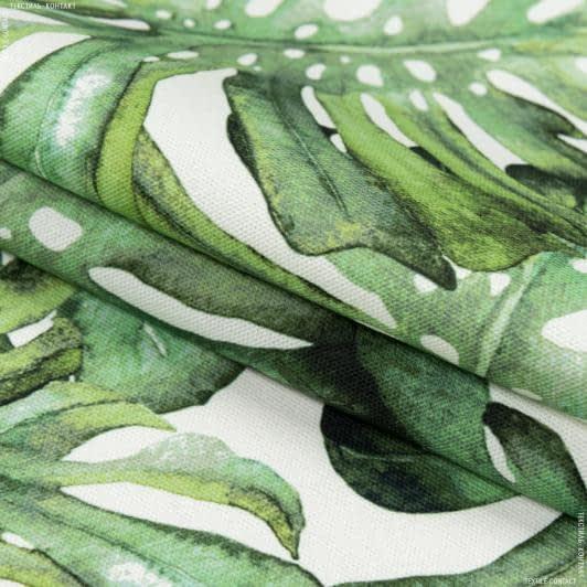 Ткани портьерные ткани - Декоративная ткань самарканда/samarcanda  монстера зеленый