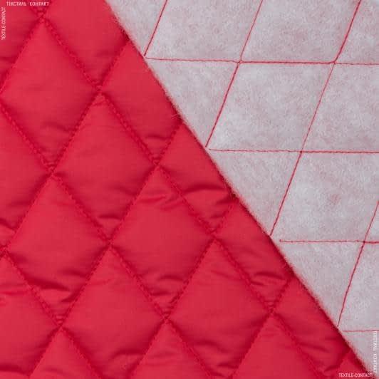 Ткани для верхней одежды - Плащевая фортуна стеганая красный